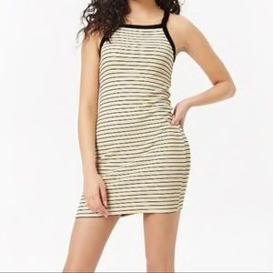 Forever 21 Tank Dress Yellow Black White